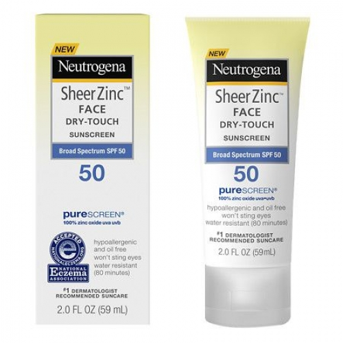 Neutrogena sheer zinc face dry-touch sunscreen SPF 50