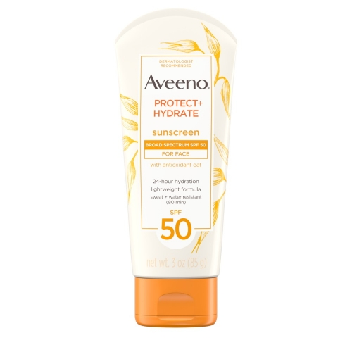 Aveeno Protect hydrate Lotion Suncreen With Broad Spectrum SPF 50