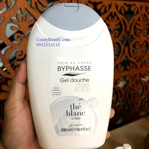 Sữa tắm Byphasse Gel Douche Plaiser Body Shower Gel Hương The Blanc 500ml
