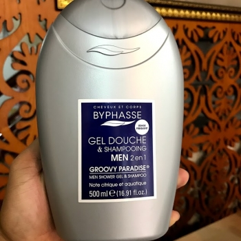 Sữa tắm BYPHASSE MEN shower gel shampoo 2 in 1 500ml Hương  GROOVY PARADISE